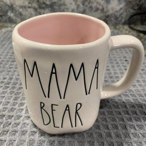 Rae Dunn MAMA BEAR Mug with Pink Interior